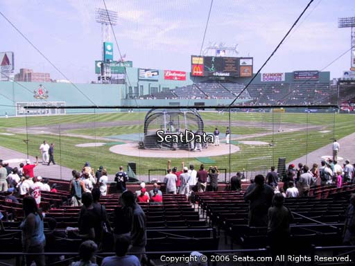 Seat view from loge box section 131 at Fenway Park, home of the Boston Red Sox