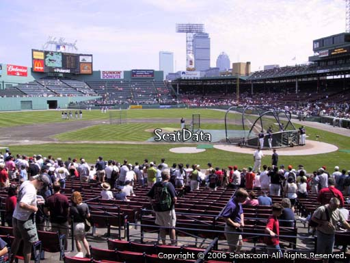 Seat view from loge box section 140 at Fenway Park, home of the Boston Red Sox