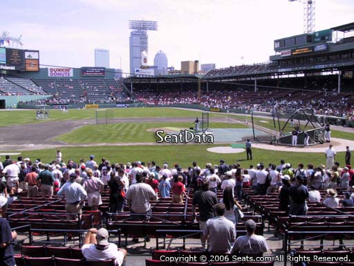 Seat view from loge box section 144 at Fenway Park, home of the Boston Red Sox