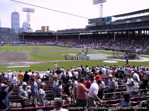 Seat view from loge box section 148 at Fenway Park, home of the Boston Red Sox