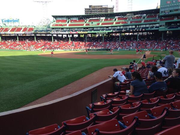 View from Loge Box 164 at Fenway Park. Home of the Boston Red Sox.