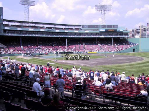 Seat view from loge box section 99 at Fenway Park, home of the Boston Red Sox
