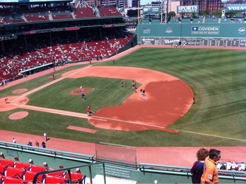 Seat view from PB 11 at Fenway Park, home of the Boston Red Sox