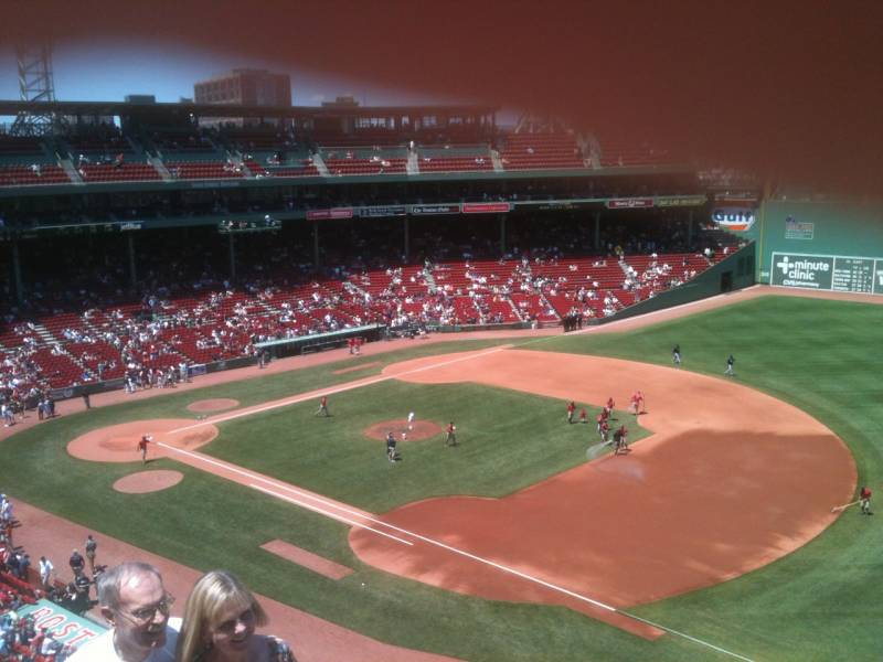 Seat view from PC 13 at Fenway Park, home of the Boston Red Sox