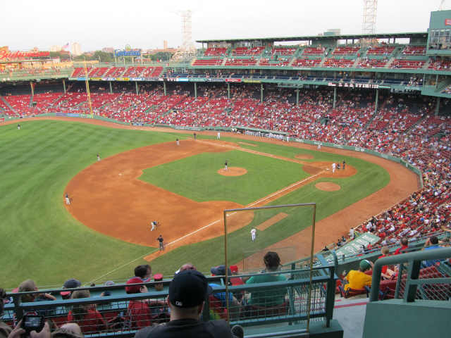 Seat view from PC 14 at Fenway Park, home of the Boston Red Sox