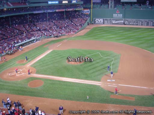Seat view from PC 7 at Fenway Park, home of the Boston Red Sox