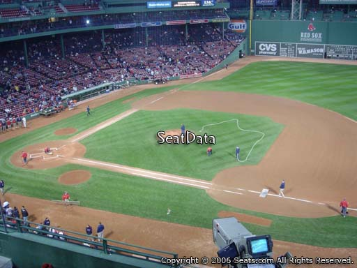 Seat view from PC 9 at Fenway Park, home of the Boston Red Sox