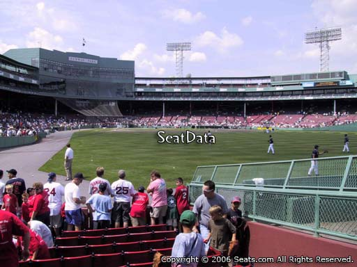 Seat view from right field box section 87 at Fenway Park, home of the Boston Red Sox