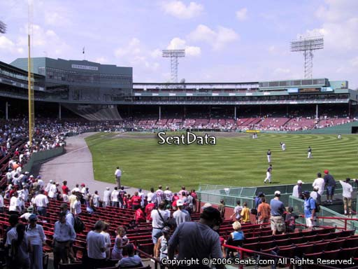 Seat view from right field box section 88 at Fenway Park, home of the Boston Red Sox