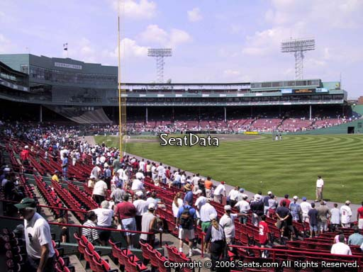 Seat view from right field box section 90 at Fenway Park, home of the Boston Red Sox