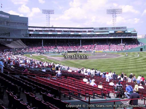 Seat view from right field box section 94 at Fenway Park, home of the Boston Red Sox