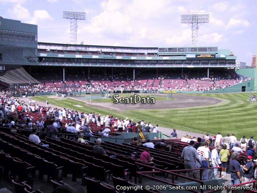 Seat view from right field box section 95 at Fenway Park, home of the Boston Red Sox