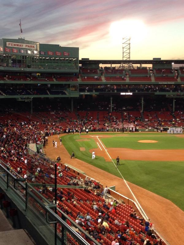 View from the Right Field Roof Box at Fenway Park