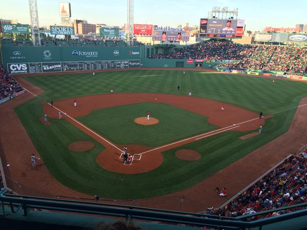 View from the State Street Pavilion Club at Fenway Park
