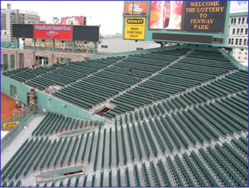 Aerial Shot of the Bleachers at Fenway Park
