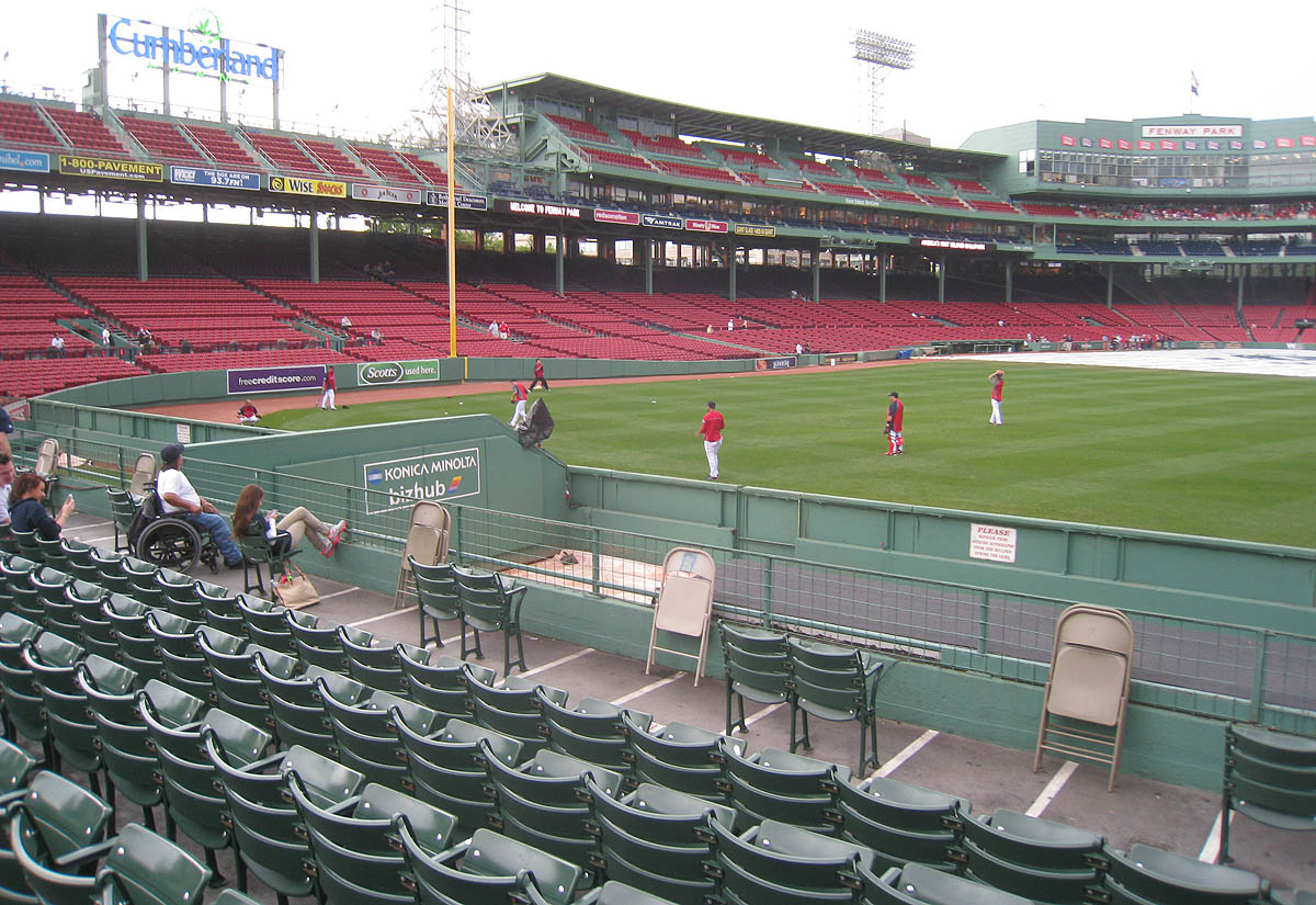 View from the bleachers at Fenway Park