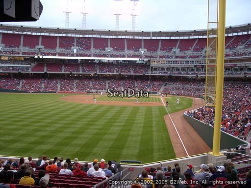 Seat view from section 106 at Great American Ball Park, home of the Cincinnati Reds