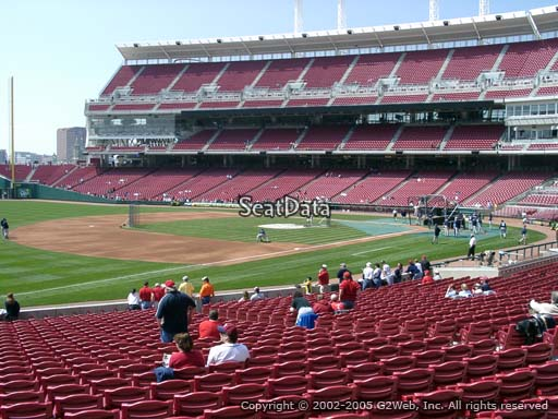 Seat view from section 112 at Great American Ball Park, home of the Cincinnati Reds