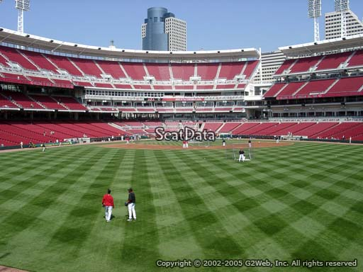 Seat view from section 146 at Great American Ball Park, home of the Cincinnati Reds