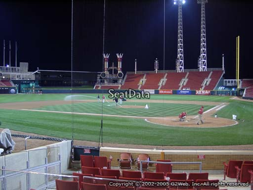 Seat view from section 22 at Great American Ball Park, home of the Cincinnati Reds