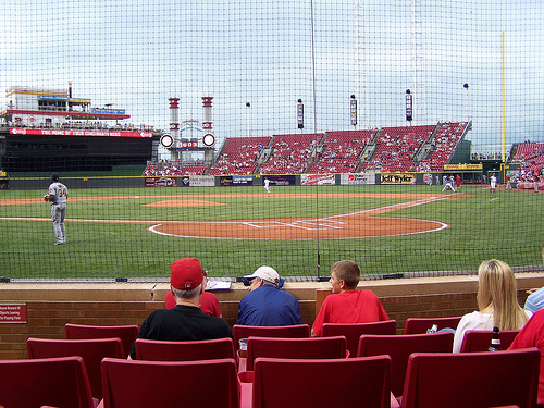 View from Diamond Club, Section 2, at Great American Ballpark