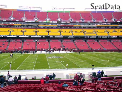 Seat view from section 101 at Fedex Field, home of the Washington Redskins