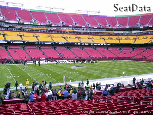 Seat view from Dream Seats 3 at Fedex Field, home of the Washington Redskins