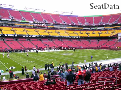 Seat view from Dream Seats 4 at Fedex Field, home of the Washington Redskins