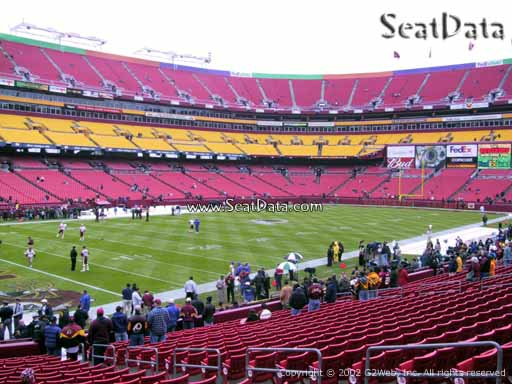 Seat view from section 106 at Fedex Field, home of the Washington Redskins