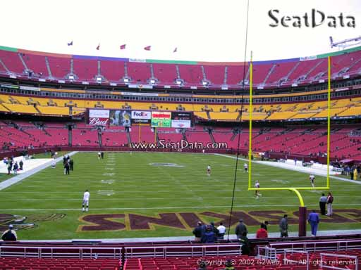 Seat view from section 112 at Fedex Field, home of the Washington Redskins