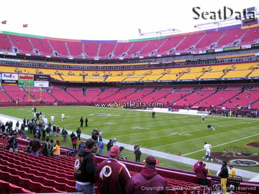 Seat view from section 116 at Fedex Field, home of the Washington Redskins