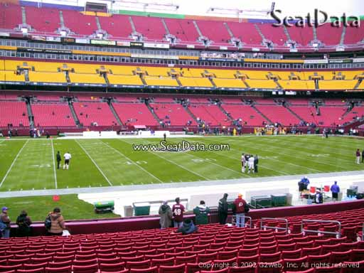 Seat view from section 123 at Fedex Field, home of the Washington Redskins