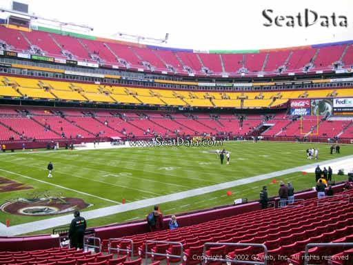 Seat view from Dream Seats 27 at Fedex Field, home of the Washington Redskins