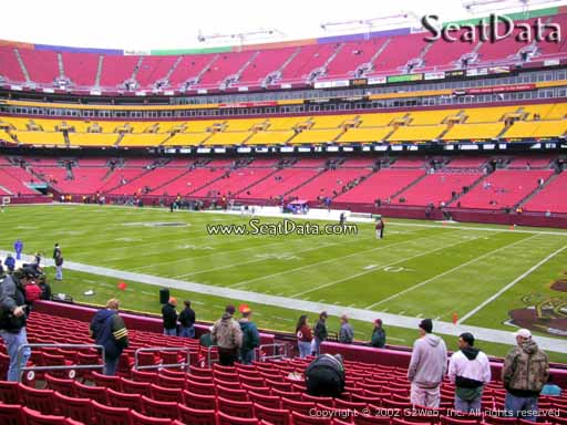Seat view from Dream Seats 38 at Fedex Field, home of the Washington Redskins