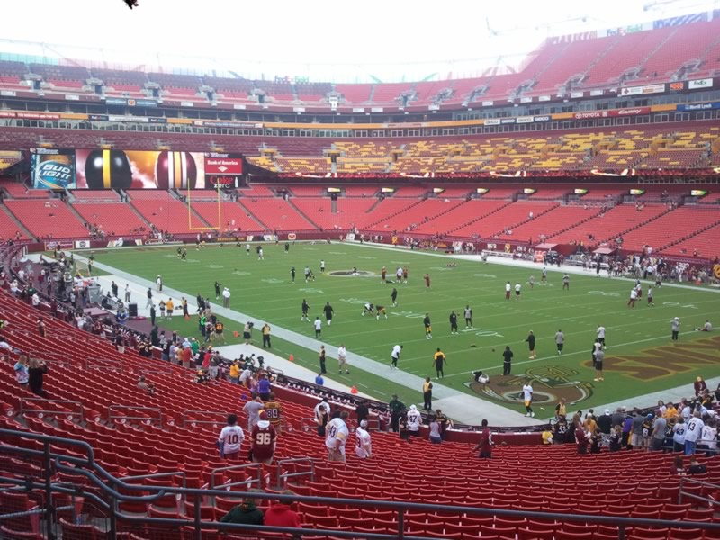 Seat view from section 215 at Fedex Field, home of the Washington Redskins