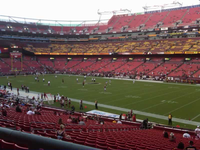 Seat view from section 238 at Fedex Field, home of the Washington Redskins