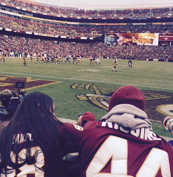 View of the field from the Dream Seats at Fedex Field.