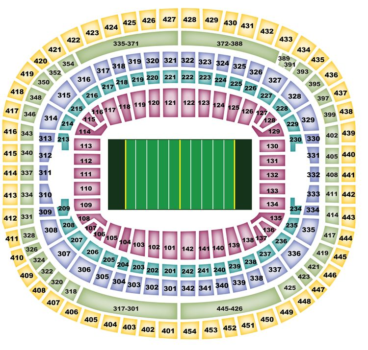 Fedex Field Seating Chart.