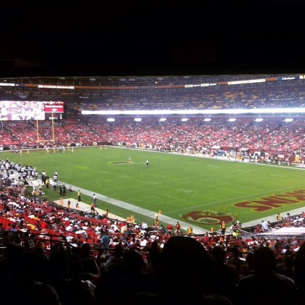 View of the field from the Terrace Seats at Fedex Field