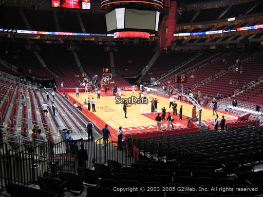 Seat view from section 102 at the Toyota Center, home of the Houston Rockets