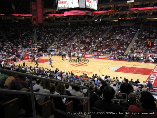 Seat view from section 105 at the Toyota Center, home of the Houston Rockets