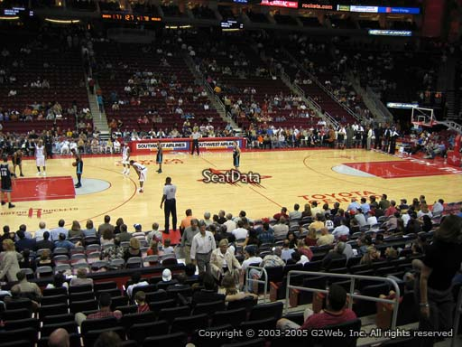 Seat view from section 108 at the Toyota Center, home of the Houston Rockets