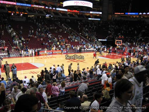 Seat view from section 109 at the Toyota Center, home of the Houston Rockets