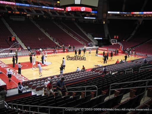Seat view from section 110 at the Toyota Center, home of the Houston Rockets