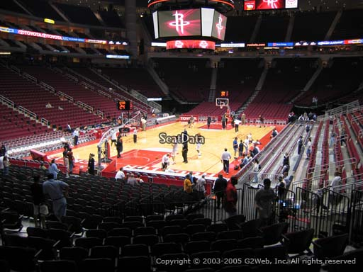 Seat view from section 111 at the Toyota Center, home of the Houston Rockets