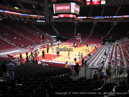 Seat view from section 112 at the Toyota Center, home of the Houston Rockets