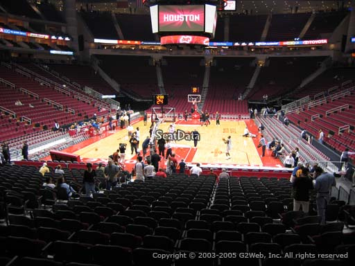 Seat view from section 113 at the Toyota Center, home of the Houston Rockets