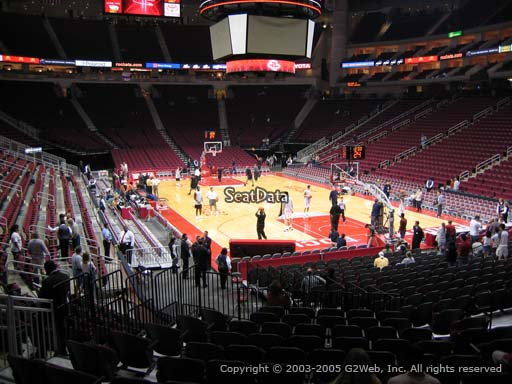 Seat view from section 115 at the Toyota Center, home of the Houston Rockets