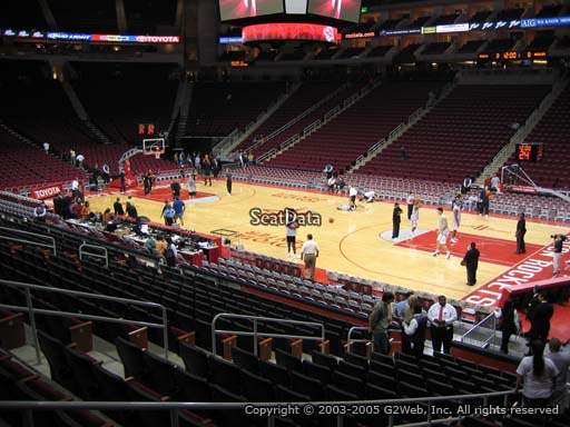 Seat view from section 117 at the Toyota Center, home of the Houston Rockets