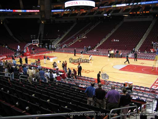 Seat view from section 118 at the Toyota Center, home of the Houston Rockets